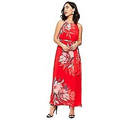 Wallis - Red floral print maxi dress