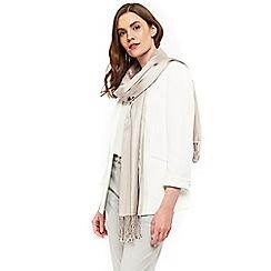 Wallis - Champagne pashmina scarf