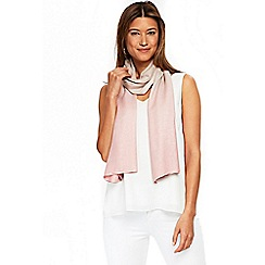 Wallis - Pale pink ombre scarf