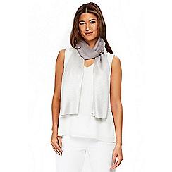 Wallis - Silver metallic ombre scarf
