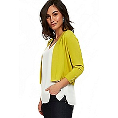 Wallis - Lime edge to edge shrug