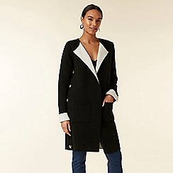 Wallis - Black button side coatigan