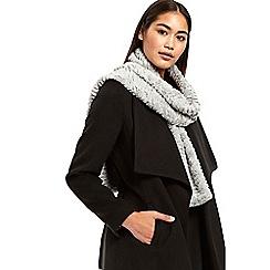 Wallis - Grey teddy faux fur scarf