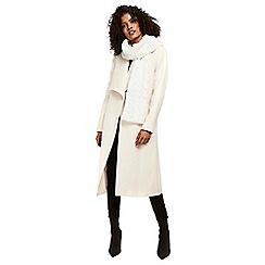 Wallis - Ivory teddy faux fur scarf