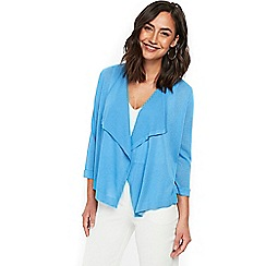 Wallis - Blue waterfall crepe cardigan