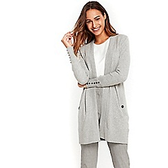 Wallis - Grey longline cardigan