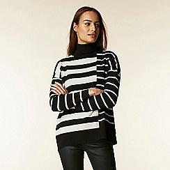 Wallis - Black and stone stripe jumper