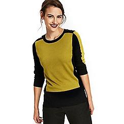 Wallis - Ochre colour block jumper