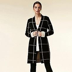 Wallis - Black checked coatigan