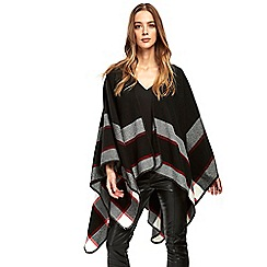 Wallis - Black and red checked wrap