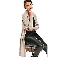 Wallis - Stone longline cardigan