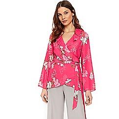 Wallis - Pink floral kimono