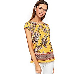 Wallis - Ochre paisley shell top