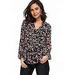 Wallis - Ink floral print blouse