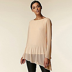 Wallis - Blush pleated asymmetric blouse