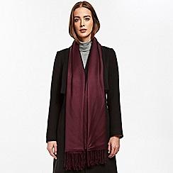 Wallis - Berry pashmina scarf