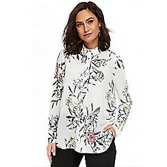 Wallis - Cream floral print shirt