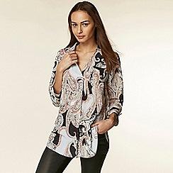 Wallis - Stone paisley print shirt
