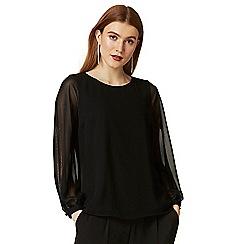 Wallis - Black embellished sleeve top