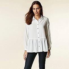 Wallis - Ivory peplum shirt