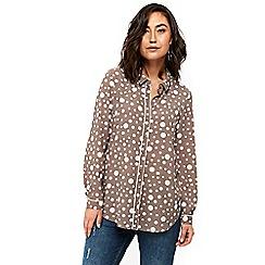 Wallis - Taupe spot shirt