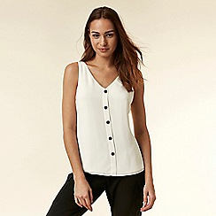 Wallis - Ivory button through camisole top