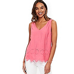 Wallis - Pink scallop hem camisole top