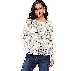 Wallis - Ivory lace blouse