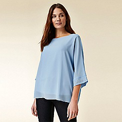 Wallis - Blue sparkle overlayer top