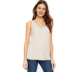 Wallis - Stone v-neck camisole top