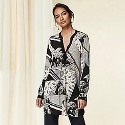 Wallis - Black patchwork print shirt