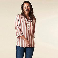 Wallis - Rust Stripe Chambray Shirt