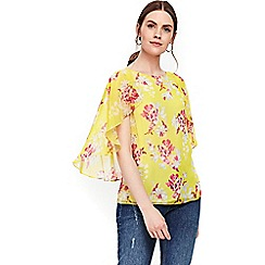 Wallis - Yellow ruffle top