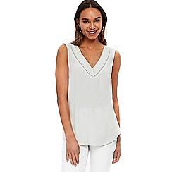 Wallis - Silver embellished camisole top