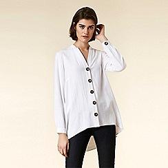 Wallis - Ivory Button Front Shirt
