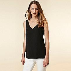 Wallis - Black v-neck camisole top