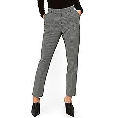 Wallis - Monochrome diamond jacquard trousers