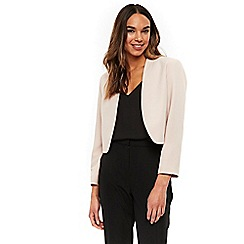Wallis - Blush cropped blazer