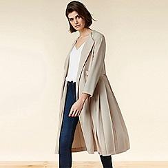 Wallis - Cream Pleated Duster Coat