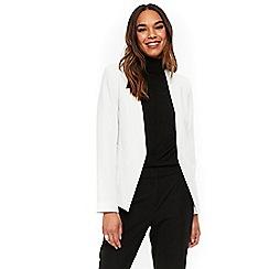 Wallis - Ivory open front blazer