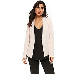 Wallis - Blush open front blazer