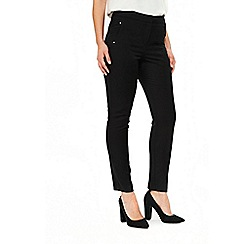 Wallis - Black tapered leg trousers