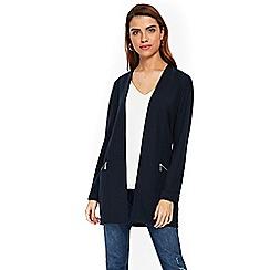 Wallis - Ink zipped morgan longline jacket