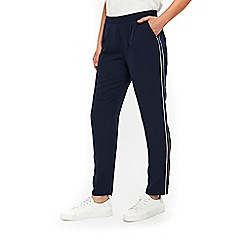 Wallis - Navy contrast piped joggers