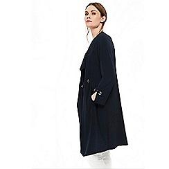 Wallis - Navy eyelet duster jacket