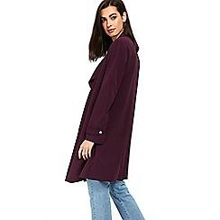 Wallis - Purple lined envelope collar duster jacket