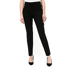 Wallis - Black button tapered leg trousers