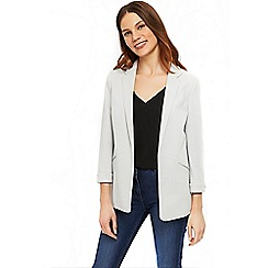 Wallis - Grey one button cuff jacket