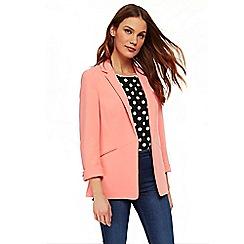 Wallis - Orange one button cuff blazer