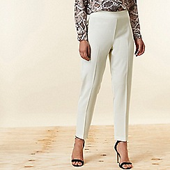 Wallis - Ivory Tapered Trousers
